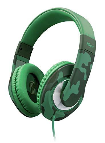 Trust Urban Sonin - Auriculares para niños con limitador de Volumen, Verde