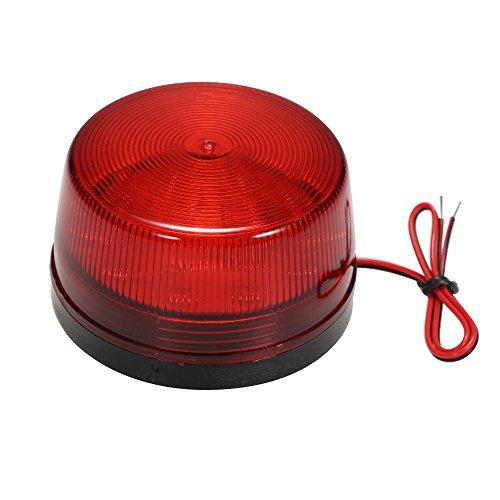 OWSOO Alarm Licht LED Verdrahtetes Alarm-Röhrenblitz Signal Sicherheit warnendes LED-Licht blinkt,wasserdichtes 12V 120mA sicher Sicherheit für Warnungssystem, Rot