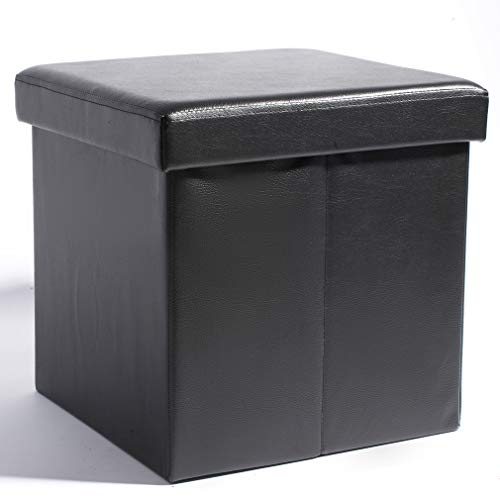 Theo&Cleo Sitzhocker mit Stauraum Sitzwürfel Sitzbox Aufbewahrungsbox mit Deckel Größe 38 x 38 x...