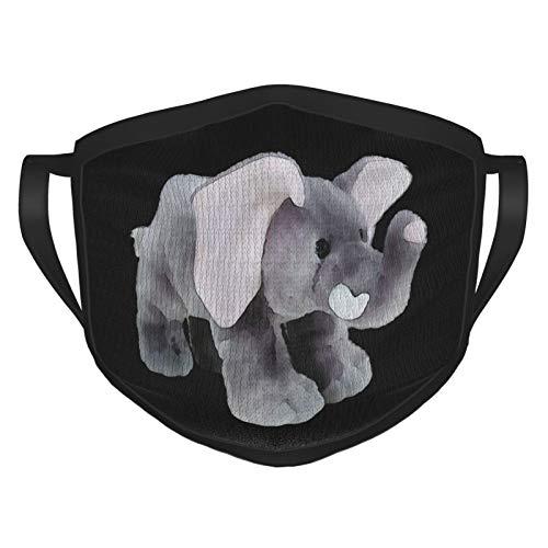 MDFE Funda de cara de elefante indio con gancho elástico para la oreja, lavable y reutilizable filtro de protección bufanda para comodidad de moda