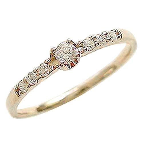 [ジュエリーアイ] セブンストーン ダイヤモンドリング 1号から 指輪 ダイヤリング 7石 K18YG イエローゴールドK18 2号