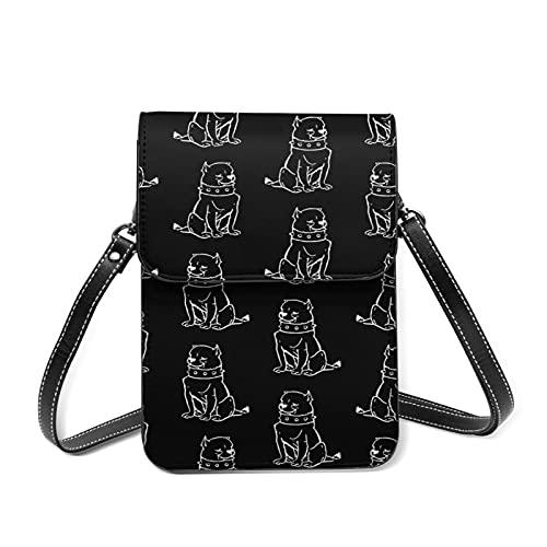 best& Cute Bulldog Dogs - Bolso bandolera para mujer, piel sintética, con ranuras para tarjetas