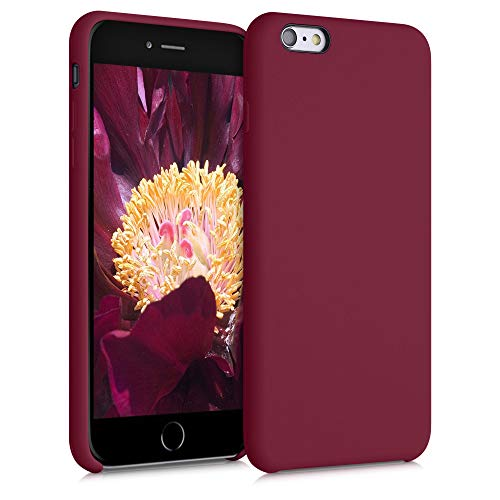 kwmobile Funda para Apple iPhone 6 Plus / 6S Plus - Carcasa de TPU para móvil - Cover Trasero en Rojo lacre