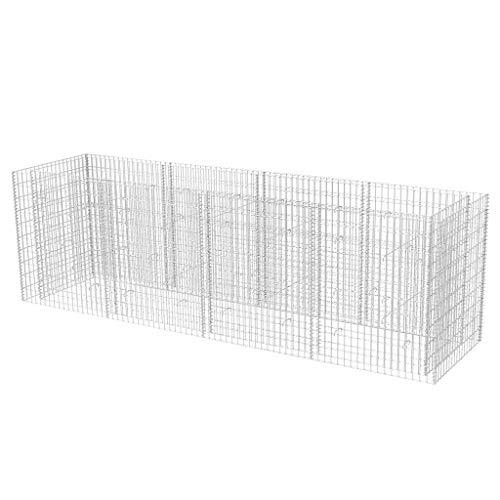 Vislone Gabionen-Pflanzkorb Gabionen Steinkorb Hochbeet aus Verzinkter Stahl Drahtkorb 360 x 90 x 100 cm