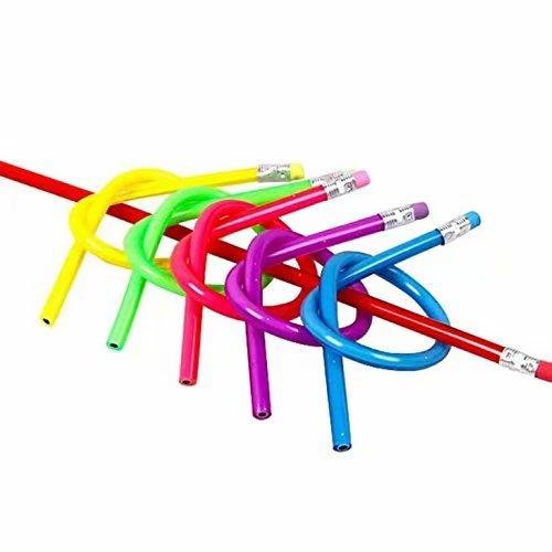 Preisvergleich Produktbild 10 Stück,  weich,  flexibel,  biegsam Magic Bleistifte,  gebogen,  für Kinder,  Schule Ausrüstung