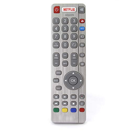 Mando a Distancia de Repuesto Compatible para Sharp LC-55CFG6022E Full HD Active Motion 200 Smart televisión