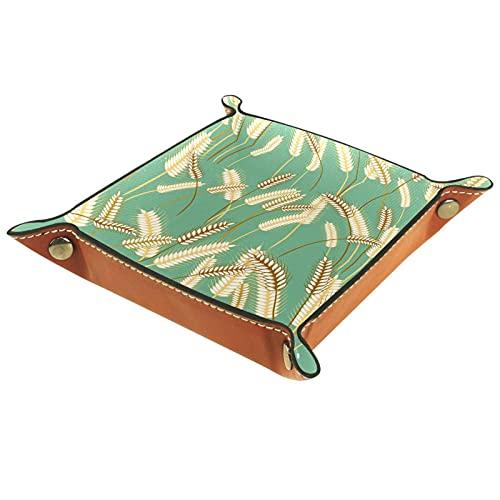 Bandeja de dados de hierba de cebada, organizador de escritorio personalizado para joyas y cosméticos, gafas, auriculares, oficina, uso en el hogar