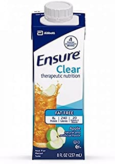Ensure Clear Apple, 8 oz Recloseable Carton, Abbott 64903 - Case of 24