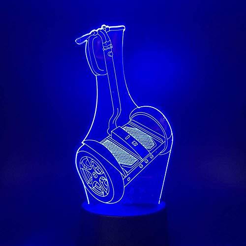 Lámpara de ilusión 3D LED de luz nocturna USB coche L cambio de color para niños regalo Wow lámpara de mesa dormitorio mejor regalo de cumpleaños regalo de Navidad para niños