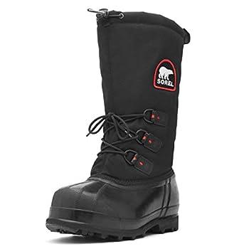 Sorel Men s Glacier Extreme Snow Boot,Black/Red Quartz,11 M US