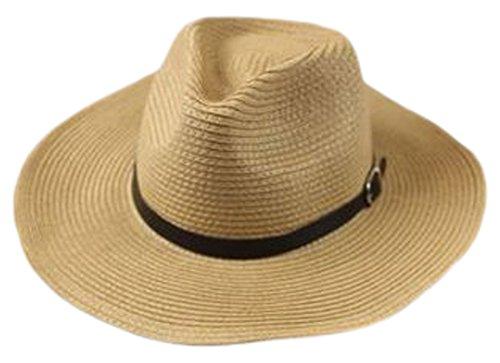 【セット】帽子 麦わら帽子 麦わら帽 折りたたみ麦わら帽 紳士帽 大きい帽子 XL 61㎝ 62㎝ 63㎝ ストローハット 春夏 メンズ ボーイズ+ クリーナー1枚/SA77S (XL (61-63cm))