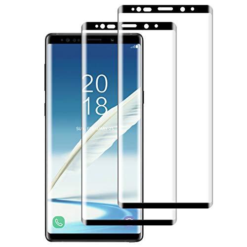 WISMURHI [2 Stück Panzerglas kompatibel mit Galaxy Note 9, Schutzfolie für Galaxy Note 9 - Anti-Kratzer, Anti-Öl, Anti-Bläschen, HD Panzerglasfolie für Galaxy Note 9