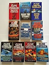 Clive Cussler (Dirk Pitt Set of 10) Pacific Vortex; Raise the Titanic ... Poseidon's Arrow; Havana Storm