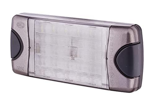 HELLA 1F4 007 893-911 FF/Halogène-Kit de projecteurs longue portée - Comet FF 200 - 12V - ovale - Chiffre de référence: 17.5 - Montage en saillie - disperseur limpide - Couleur du voyant: transparent - gauche/droite - Kit
