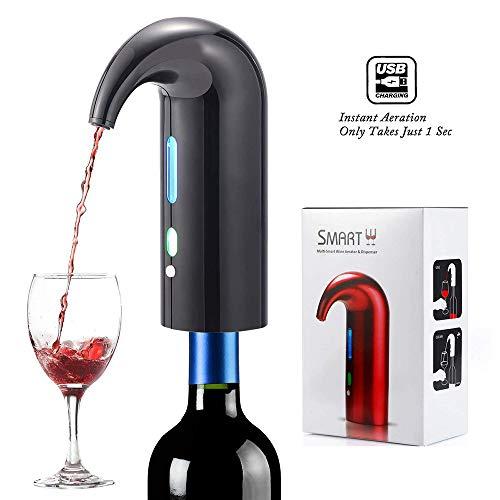 AMY Elektro-Wein-Belüftungsanlage, Instant-Bewegliche Elektrische Wein-Belüftungsanlage One Touch...