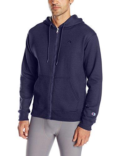 Champion Men's Powerblend Full-Zip Hoodie, Navy, Large