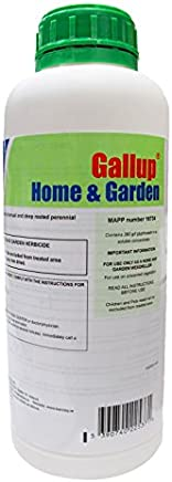 Barclay Gallup Home & Garden Glyphosate Commercial Strength Weed killer treats upto 1666 sq/m 1Lt Bottle | by Elixir Gardens