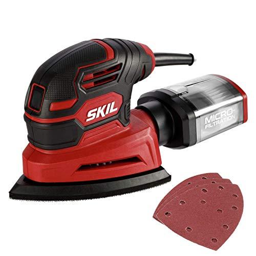 SKIL Corded Detail Sander, Includes 3pcs Sanding...