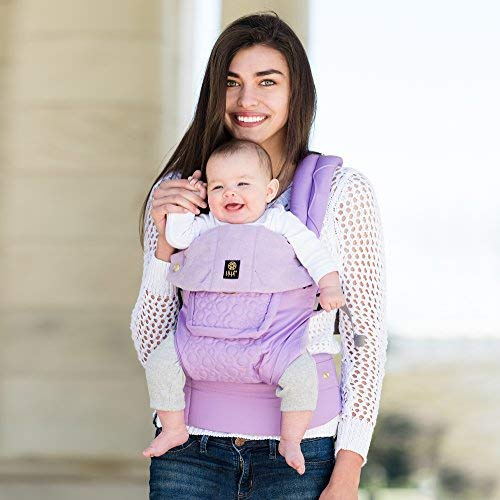 SIX-Position, 360° Ergonomic Baby & Child Carrier by LILLEbaby - The COMPLETE Embossed LUXE March of Dimes(Lavender)