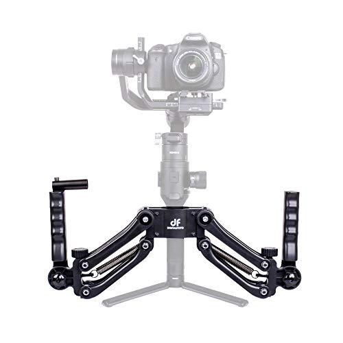 DIGITALFOTO DH04 Z-Achse Flexiable Dämpfungsfeder Dual-Griff-Halterungshalter kompatibel für ZHIYUN Crane 2 / Plus / V2 MOZA Ronin S FEIYU AK2000 / 4000