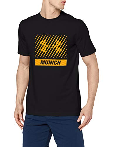 Under Armour Munich Big Logo SS T Camiseta de Manga Corta, Hombre, Negro (001), M