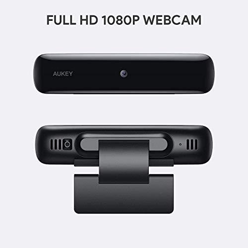 AUKEY FHD Webcam, 1080p Live Streaming Kamera, Desktop oder Laptop USB Webcam für Widescreen Video Anrufe und Aufnahmen