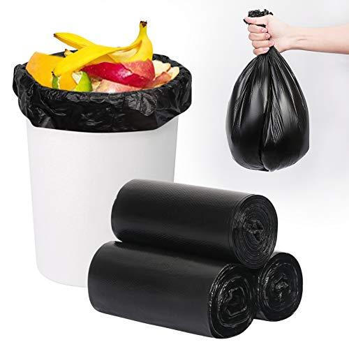 FYY Bolsas de basura, bolsas para basura, 3 rollos/150 unidades de 45 x 50 cm, bolsas de basura biodegradables de 10 l para...