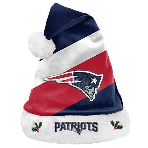 Foco NFL New England Patriots Basic Santa Claus Hat Weihnachtsmann Mütze