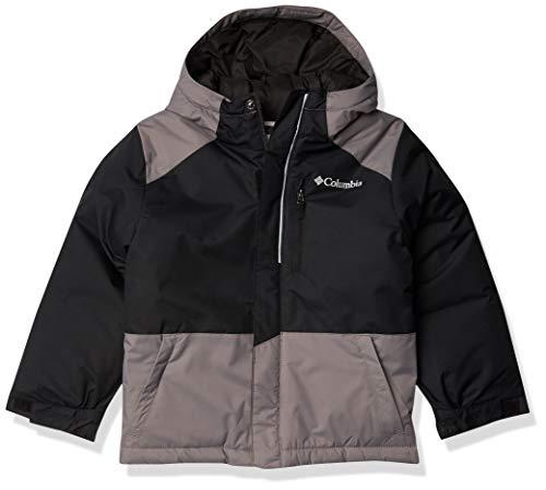 Columbia Boys' Big Lightning Lift Jacket, Black/City Grey, Medium