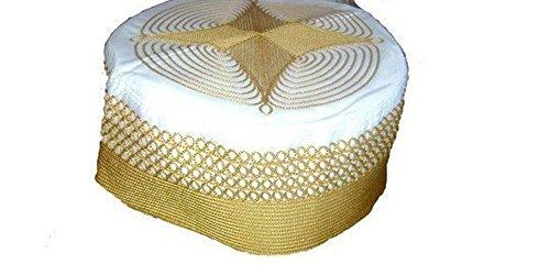 Desert Dress - Fez Oriental Folklorique, Authentique Turc FES, Fait Main, Chapeau Pakistanais Exotique Ottoman - Brodé Doré, Non présent
