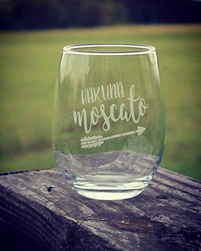 Hakuna Moscato geëtst wijnglas pijl wijn liefhebber