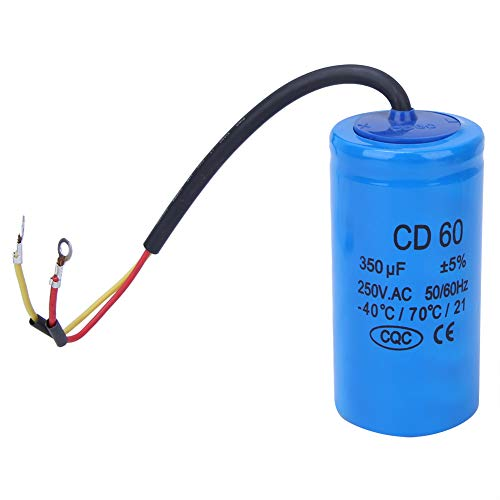 CD60 Kondensator,350uf 250VAC Motorstartkondensator , 350MFD Laufkondensator Motorlaufkondensator , für Kühlschrank, Klimaanlage, Wechselstrommotor, Wasserpumpe