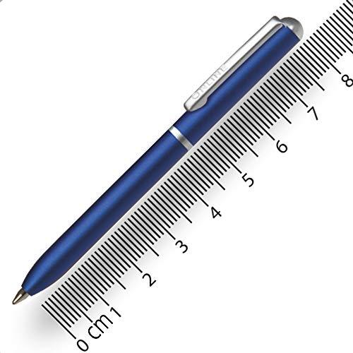 Online Miniatur Dreh-Kugelschreiber Blue mit Metallclip, D1-Standardmine | Mini-Kuli fürs Portemonnaie | 8 cm Länge, passend für Geldbeutel & kleine Taschen für unterwegs | Schreibfarbe schwarz