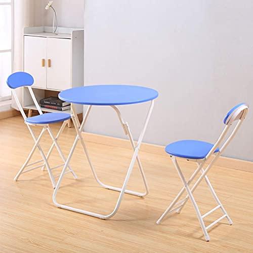 Accesorios diarios mesa de jardín de metal 3 piezas mesa redonda y sillas plegables muebles de patio conjunto moderno y simple estilo