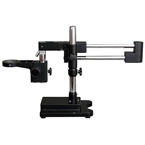 AmScope DAW-B Heavy Duty Double-Arm Black Boom Stand