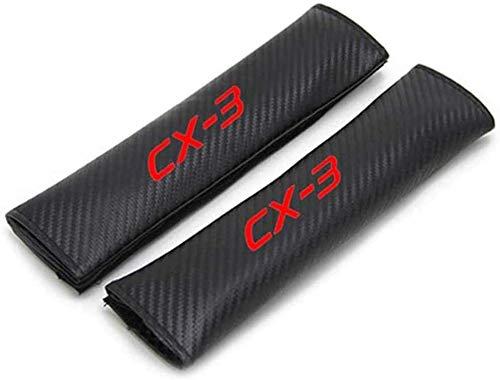 2 Piezas Almohadillas de La Cubierta del Hombro del CinturóN de Seguridad, para MAZDA CX-3, Cómoda Transpirable Auto Interior Accesorios