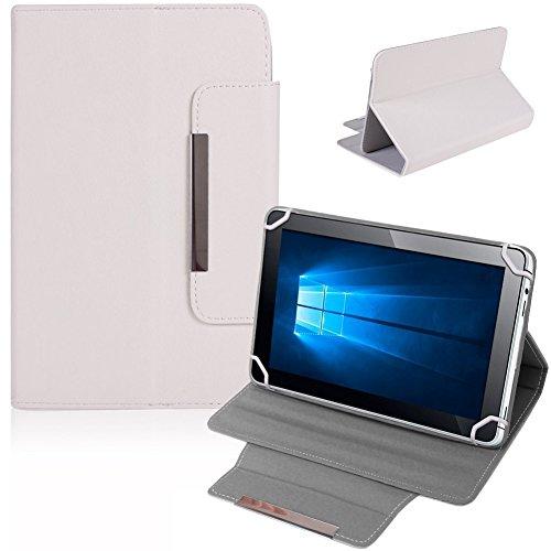 NAUC Tablet Tasche Hülle Schutzhülle für Lenovo Tab 2 A10-30F Case Schutz Cover Bag, Farben:Weiss