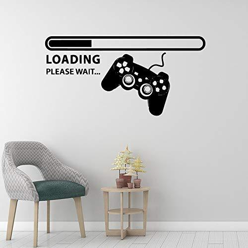Juego creativo Joystick Controller Cargando barra de progreso Calcomanía sala de juegos Gamer Boy dormitorio Decoración para el hogar Vinilo Adhesivo de pared Art mural poster