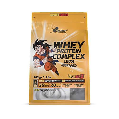 Olimp Whey Protein Complex 100% Limited Edition - Dragon Ball Z | Weiße Schokolade mit Himbeere Geschmack | 700 g | 20 Portionen | Powder Eiweiß-Pulver | BCAA-Aminosäuren