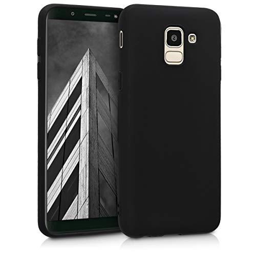 kwmobile Samsung Galaxy J6 Hülle - Handyhülle für Samsung Galaxy J6 - Handy Hülle in Schwarz matt