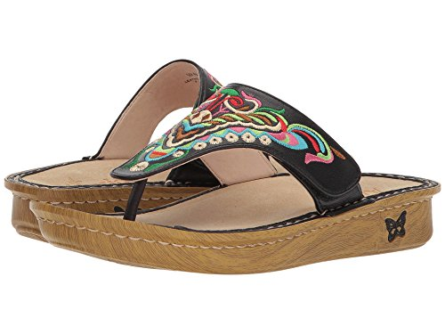Alegria Womens Vanessa Chrysalis Black Sandal 6 M US