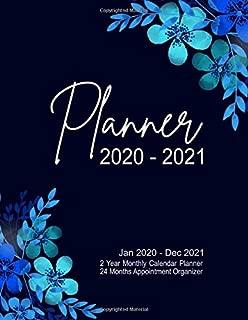 Planner 2020 - 2021. 2 Year Monthly Calendar Planner. 24 Months Appointment Organizer. Jan 2020 - Dec 2021