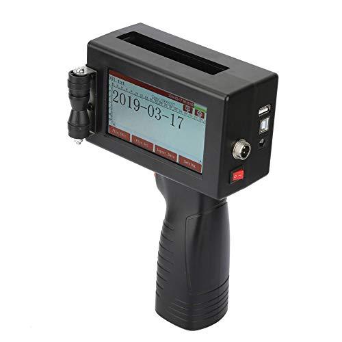 Jadpes Inktstraal coderingsmachine, 300dpi, Touch Screen M5 intelligente kartonnen PVC-plastic handprinter met ijzeren opbergdoos voor elektronica binnenin