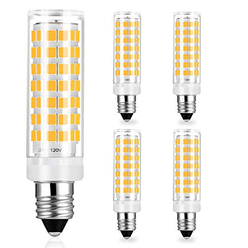 E11 6W Led Light Bulbs Dimmable - 50W 60W Mini Candelabra Base Halogen Incandescent Equivalent - 540 Lumens High Brightness Warm White 3000K AC 120V E11 Light Bulb, Pack of 4