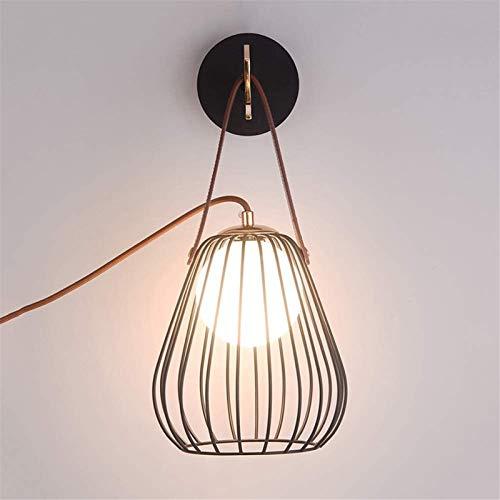 Lámpara industrial, Lámpara de pared LED Lámpara de decoración Lámparas de noche o usado como lámpara de escritorio Iron Black Cause Glass Lampshade Moderno Art G9 6W Iluminación interior ,Decoración