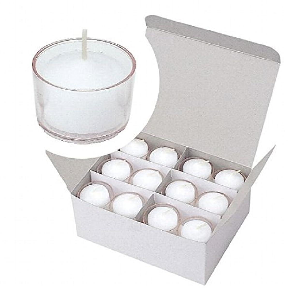 徒歩でレンジウィンクカメヤマキャンドル(kameyama candle) クリアカップボーティブ4時間タイプ 24個入り 「 クリア 」