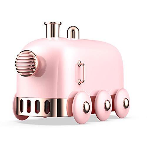 WJL Kleine draagbare desktop-luchtbevochtiger met USB voor kantoor, slaapkamer, goed cadeau voor jongens en meisjes, automatische uitschakeling, 10,1 ounces roze