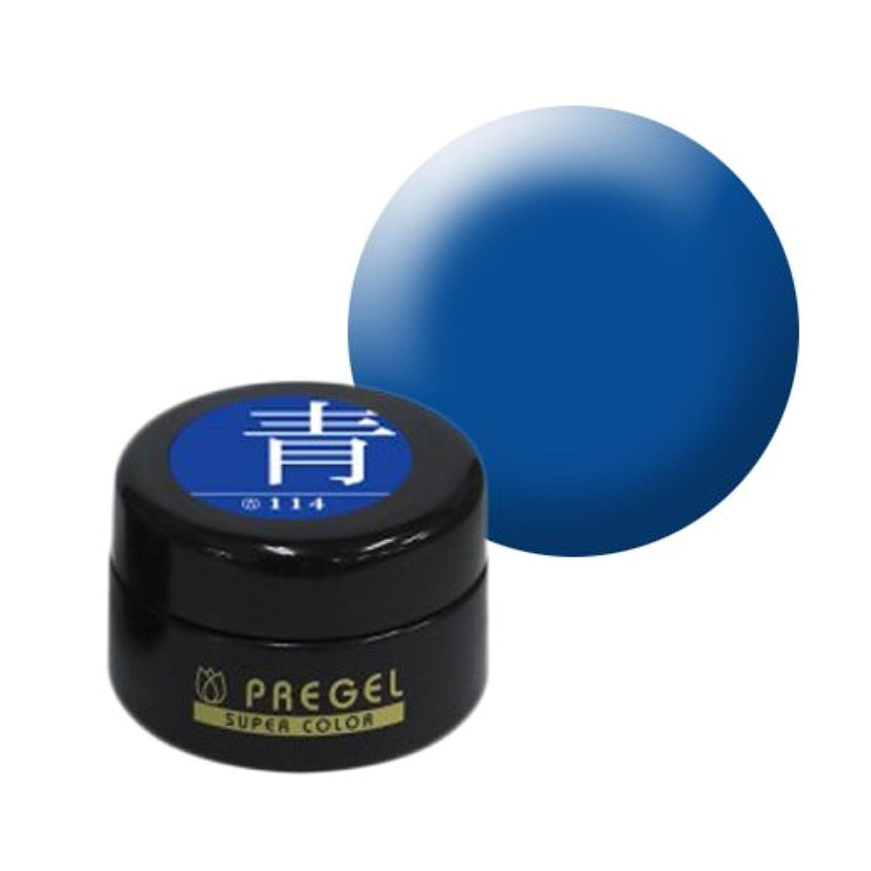 母音超えてハウス【PREGEL】カラーEx 青 / PG-CE114 【UV&LED】プリジェル カラージェル ジェルネイル用品