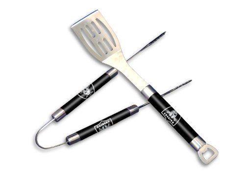 THE NORTHWEST COMPANY NFL Oakland Raiders Barbeque Tongs and Spatula Set