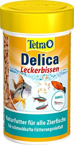 TetraDelica Krill (Naturfutter für Zierfische, enthält zu 100% gefriergetrocknete Krill), 100 ml Dose